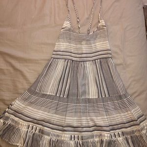Madewell XS blue and white striped dress